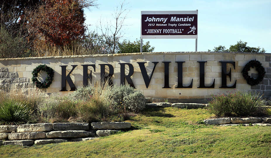 City officials have placed a banner at the entrance to Kerrville on Interstate 10 showing their s