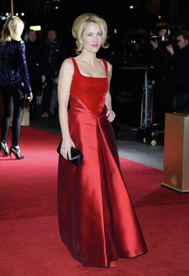 Actress Gillian Anderson attends the Les Miserables World Premiere at the Odeon Leicester Square on December 5, 2012 in London, England.  (Photo by Stuart Wilson/Getty Images) Photo: Stuart Wilson, Getty Images / 2012 Getty Images