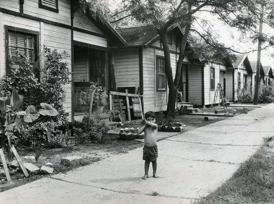 Unidentified child in Houston, 1958. (Pete Vazquez / Houston Chronicle)