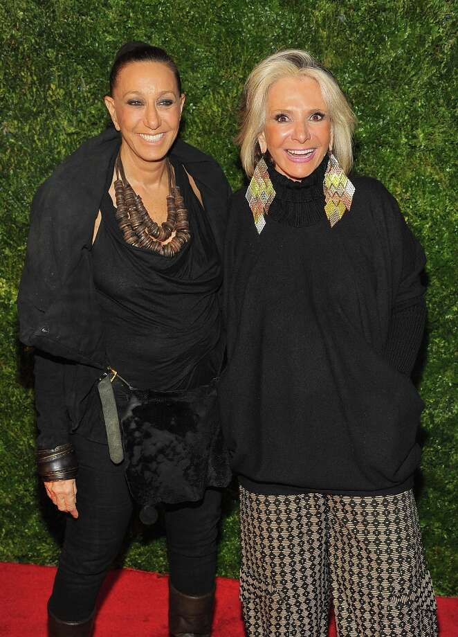 Donna Karan (L) and Sheila Nevins attend HBO's In Vogue: The Editor's Eye screening at Metropolitan Museum of Art on December 4, 2012 in New York City.  (Photo by Theo Wargo/Getty Images for HBO) Photo: Theo Wargo, Getty Images For HBO / 2012 Getty Images