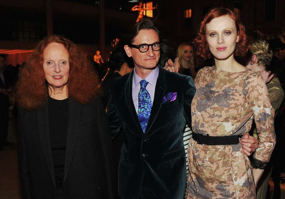 Grace Coddington, Hamish Bowles and Karen Elson attend HBO's In Vogue: The Editor's Eye screening at Metropolitan Museum of Art on December 4, 2012 in New York City.  (Photo by Theo Wargo/Getty Images for HBO) Photo: Theo Wargo, Getty Images For HBO / 2012 Getty Images