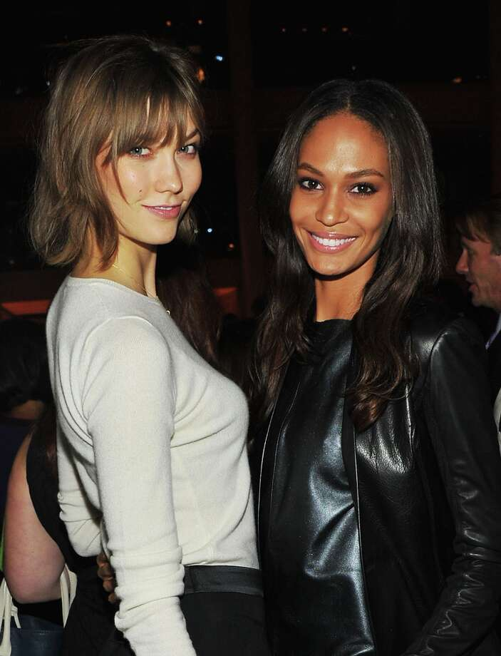 Carly Foulkes (L) and Joan Smalls attend HBO's In Vogue: The Editor's Eye screening at Metropolitan Museum of Art on December 4, 2012 in New York City.  (Photo by Theo Wargo/Getty Images for HBO) Photo: Theo Wargo, Getty Images For HBO / 2012 Getty Images
