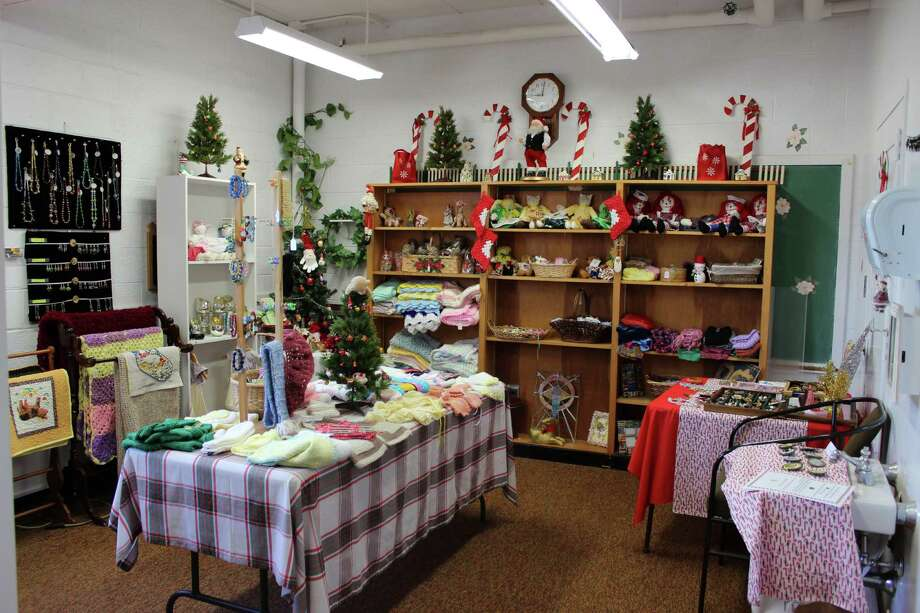 Grandma's Attic at the Darien Senior Center transformed into a holiday boutique for the month of December. Photo: Megan Davis