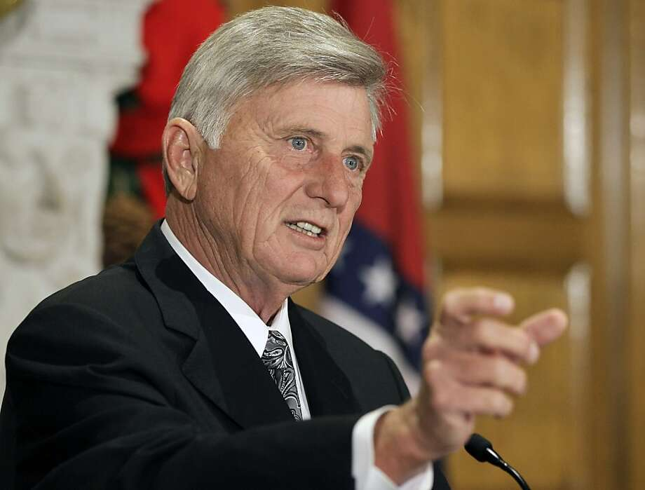 Arkansas Gov. Mike Beebe speaks during a news conference at the Arkansas state Capitol in Little Rock, Ark., Wednesday, Dec. 5, 2012, about his Tuesday meeting in Washington with other governors and President Barack Obama regarding the prospect of looming tax increases and spending cuts. (AP Photo/Danny Johnston) Photo: Danny Johnston, Associated Press