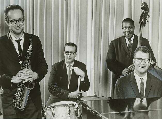 The Dave Brubeck Quartet, from left - Paul Desmond (alto sax), Joe Morello (drums), Eugene Wright (bass) and Brubeck (piano). Photo: Chronicle File Photo 1963