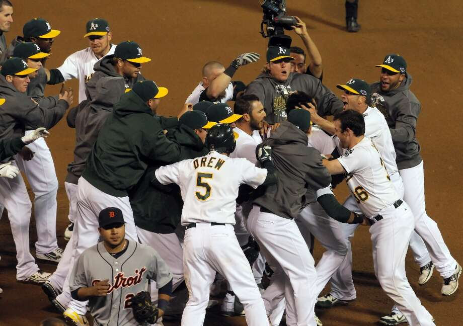 When the A's recently received their playoff bonuses, they turned right back around and gave back to the community. MLB Players Association representative Jerry Blevins told the A's front office that the team voted to donate one playoff share ($34,325.16) to local and national charities.  Photo: Carlos Avila Gonzalez, The Chronicle / ONLINE_YES