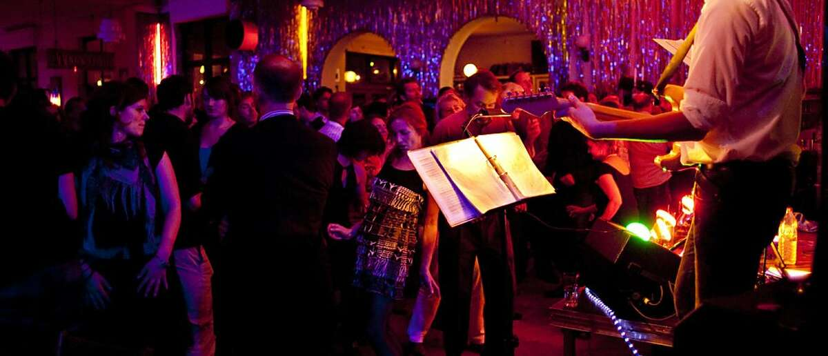 Clarchens Ballhaus in Berlin, Germany, features dinner and dancing options.