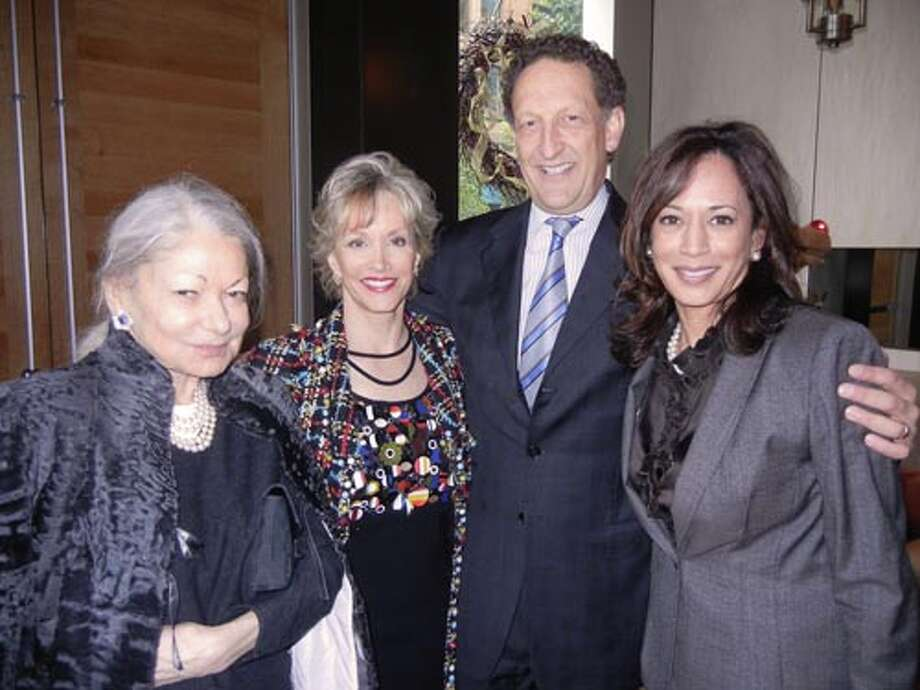 Denise Hale (left) with O.J. Shansby, Giants CEO Larry Baer and Attorney General Kamala Harris (Catherine Bigelow)