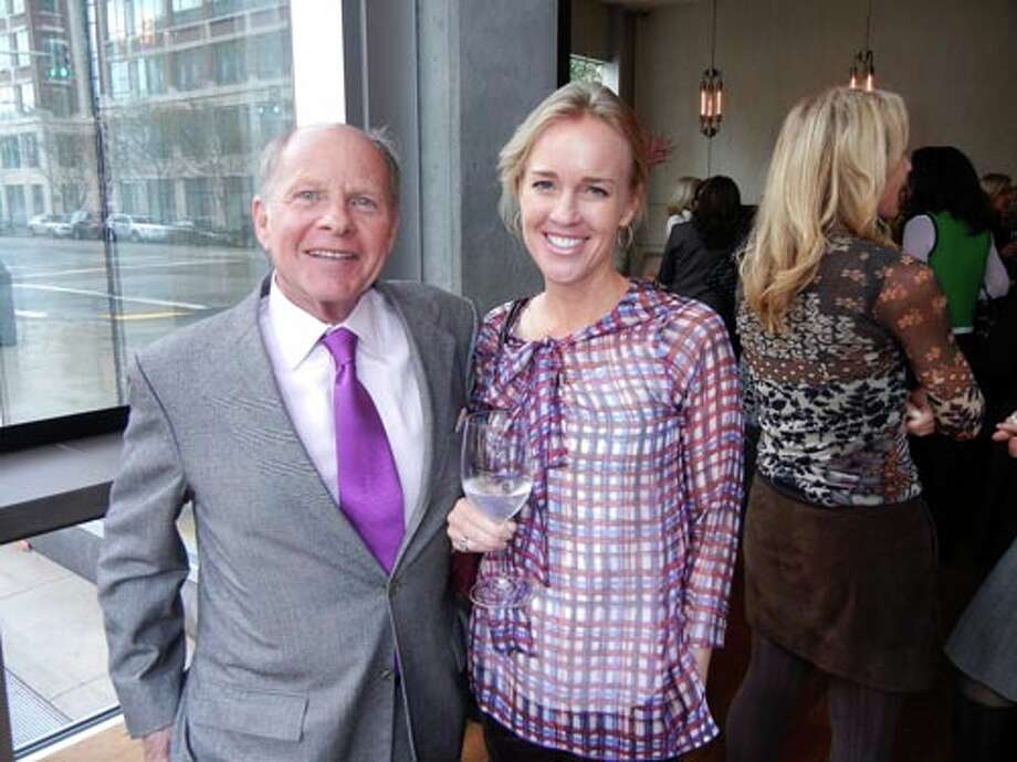 Gallerist John Berggruen (left) and Heidi Castelein (Catherine Bigelow)