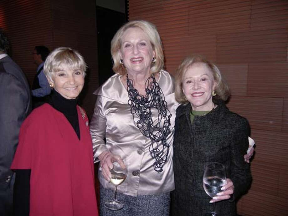 Gail Glasser (at left) with Sally Debenham and Rhea Friend (Catherine Bigelow)