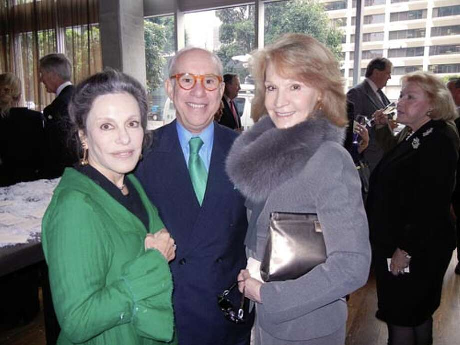 Francoise and Andrew Skurman (left) with Daniela Fagioli  (Catherine Bigelow)