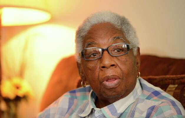 Great grandmother Clara Hankins discuss domestic violence with the Times Union Dec 4, 2012,  after her great granddaughter Tonette Thomas was murdered earlier in the week in Albany, N.Y. (Skip Dickstein/Times Union) Photo: Skip Dickstein / 00020350A