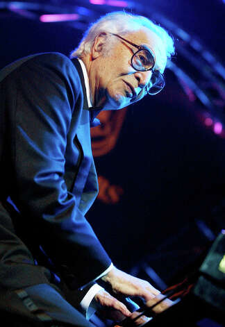 FILE - Nov. 7, 2002 file photo shows U.S. jazz legend Dave Brubeck performing on the Mustermesse stage at the AVO Session in Basel, Switzerland. Brubeck, a pioneering jazz composer and pianist died Wednesday, Dec. 5, 2012 of heart failure, after being stricken while on his way to a cardiology appointment with his son. He would have turned 92 on Thursday. (AP Photo/Keystone, Markus Stuecklin, file) Photo: MARKUS STUECKLIN
