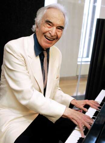 FILE - In this July 12, 2007 file photo, jazz legend Dave Brubeck rehearses at Sirius Satellite Radio studios in New York. Brubeck, a pioneering jazz composer and pianist died Wednesday, Dec. 5, 2012 of heart failure, after being stricken while on his way to a cardiology appointment with his son. He would have turned 92 on Thursday. (AP Photo/Richard Drew, File) Photo: Richard Drew