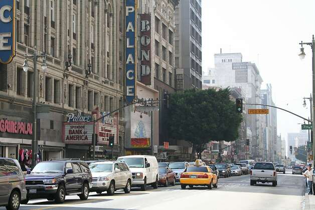 Broadway in Los Angeles would be on the streetcar route if the city obtains matching federal funds. Photo: Courtesy Of LA INC.