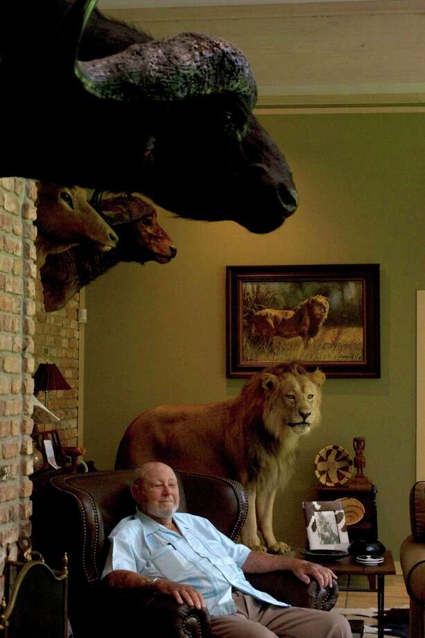 Portrait of Hilmar Moore, 90, mayor of Richmond, and big game hunter, at his home Monday, Aug. 16, 2010, in Richmond. Moore who took office in 1949 is considered to be the longest-serving mayor in the U.S. Photo: Johnny Hanson, Houston Chronicle / Houston Chronicle