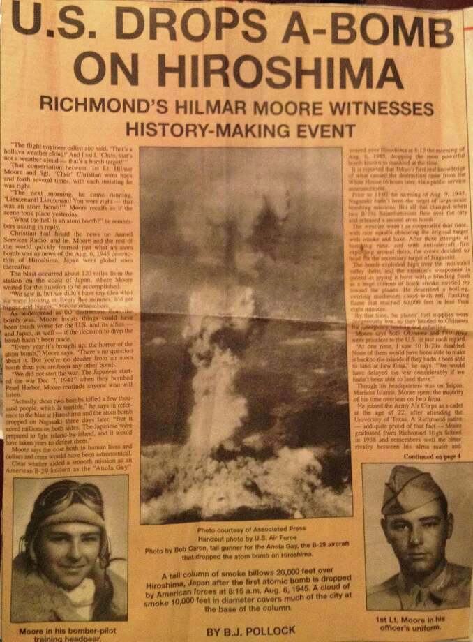 Provided newspaper clip of Hilmar Moore. Photo: Courtesy Photo, Houston Chronicle / © 2012  Houston Chronicle