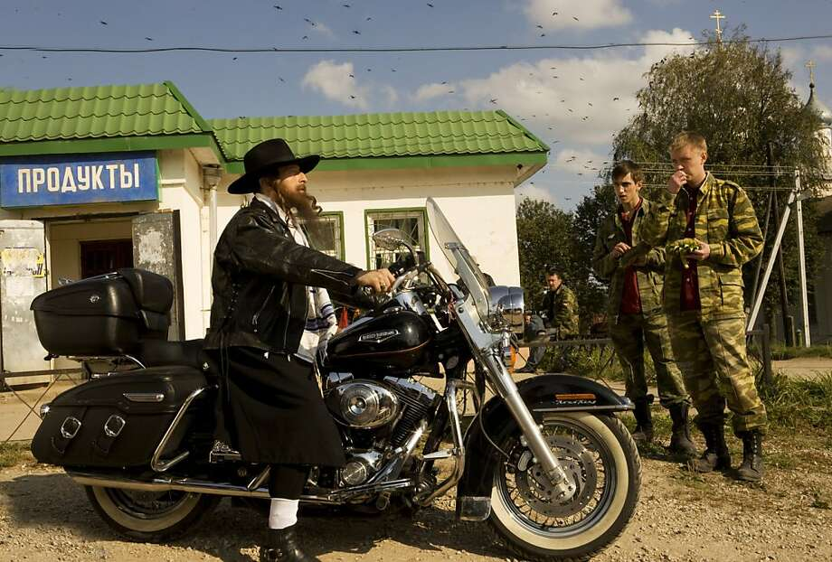 "A Harley-Davidson ad, given a Russian twist, in Victor Ginzburg's satire, ""Generation P."" Photo: New World Distribution"