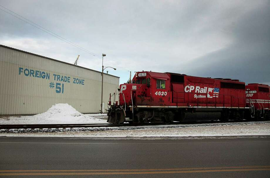 A Canadian Pacific Railway Ltd. train arrives at the Port of Duluth-Superior in Duluth, Minnesota, U.S., on Wednesday, Jan. 4, 2012. The Port of Duluth-Superior, managed by the Duluth Seaway Port Authority, is the largest port by volume on the Great Lakes, and the second largest dry bulk port in the U.S. Photographer: Ariana Lindquist/Bloomberg Photo: Ariana Lindquist / © 2012 Bloomberg Finance LP