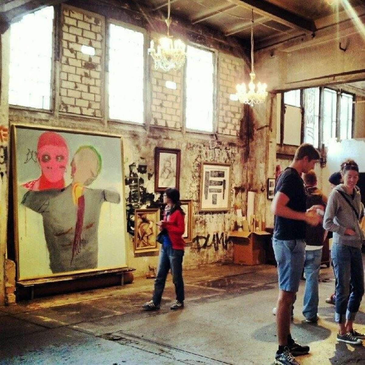Skalitzers Gallery has found unofficial homes in which to squat among Berlin's abandoned buildings.