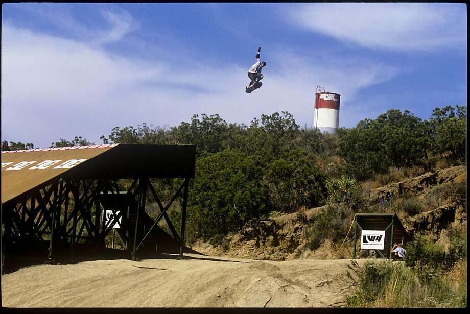 "Skateboarder Danny Way does a trick in a 2003 ride, as seen in ""Waiting for Lightning."" Photo: J. Grant Brittain, Samuel Goldwyn Films"