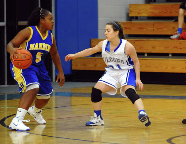 Girls basketball action between Fairfield Ludlowe and Harding in Fairfield, Conn. on Wednesday December 5, 2012. Photo: Christian Abraham / Connecticut Post