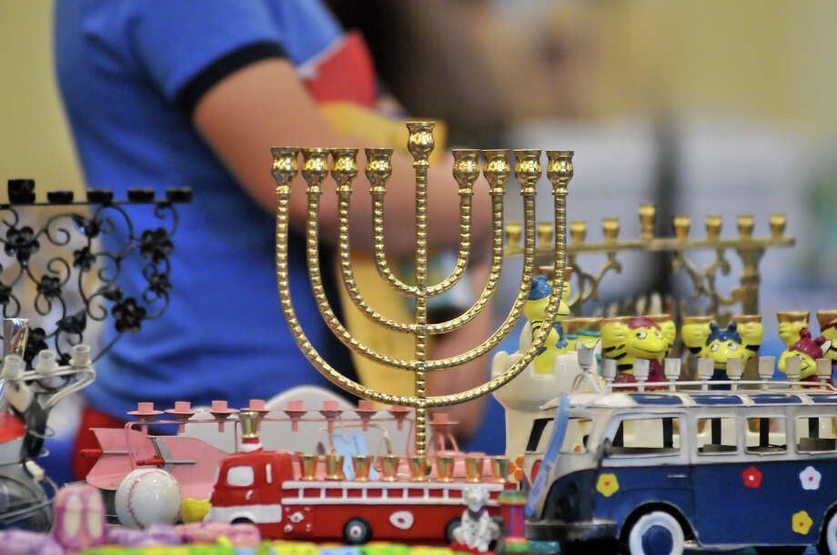 There were many different Menorah's available for sale during a holiday gift show at Temple Beth-El. Photo: Robin Jerstad/For The Express-Ne