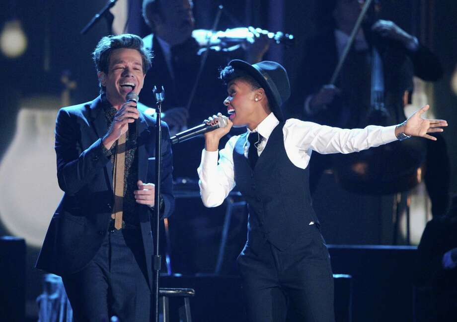 NASHVILLE, TN - DECEMBER 05:  Nate Ruess of Fun. and Janelle Monae perform onstage at The GRAMMY Nominations Concert Live!! held at Bridgestone Arena on December 5, 2012 in Nashville, Tennessee. Photo: Kevin Winter, Getty Images / 2012 Getty Images