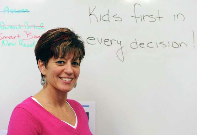 Watervliet school district Superintendent Lori Caplan in Watervliet, NY Tuesday Dec. 4, 2012. (Michael P. Farrell/Times Union) Photo: Michael P. Farrell