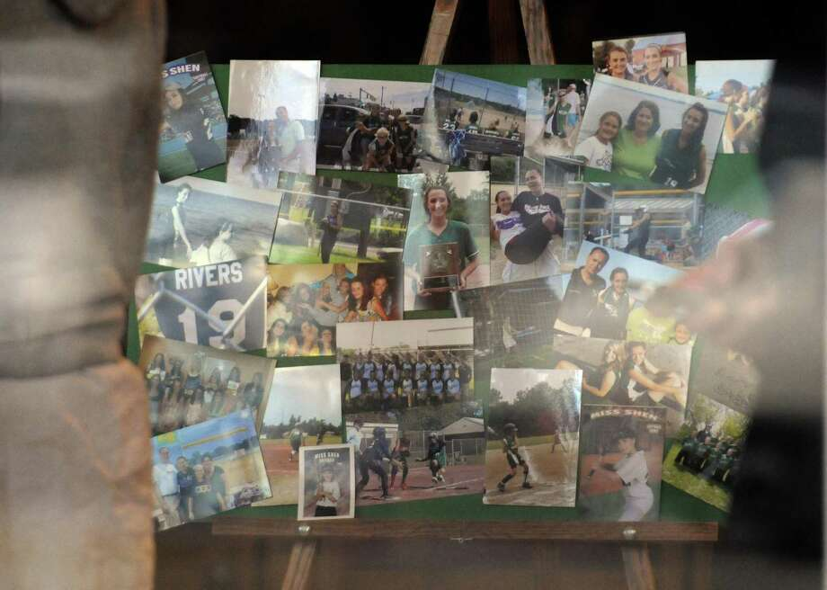 Hundreds of people attend the calling hours for Deanna Rivers,one of the two Shen students killed Saturday in a car crash on the Northway, at St. Edward the Confessor Church in Clifton Park, NY Wednesday Dec. 4, 2012. Shen students Chris Stewart and Deanna Rivers died in the crash with Matt Hardy and Bailey Wind being seriously injured.(Michael P. Farrell/Times Union) Photo: Michael P. Farrell
