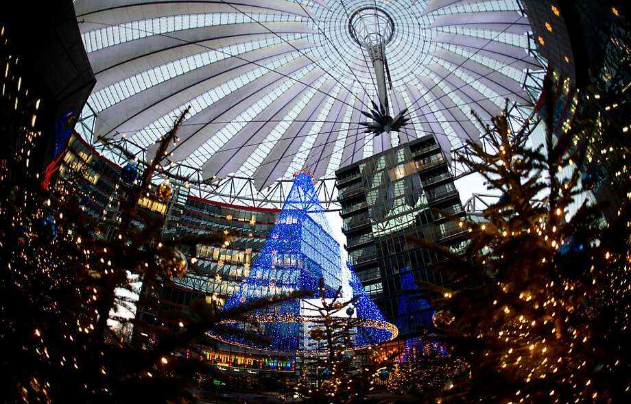 A Christmas tree at Berlin's Sony Center is pictured on December 5, 2012. Photo: Johannes Eisele, AFP/Getty Images