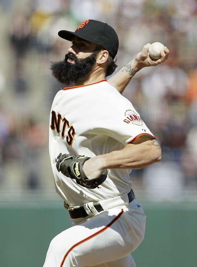 The Giants say ex-closer Brian Wilson won't deal with them until he tests other options. Photo: Eric Risberg, Associated Press