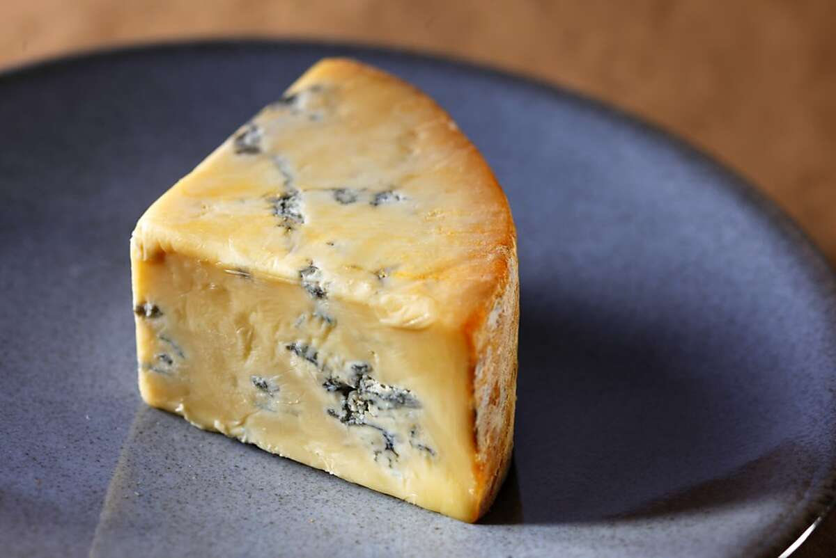 Blue Persille du Beaujolais cheese as seen in San Francisco, California, on Wednesday, November 28, 2012.