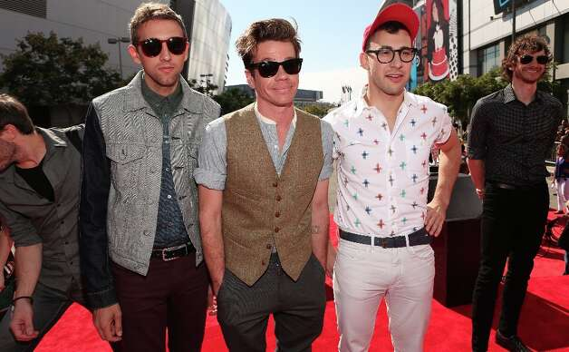 Musicians Andrew Dost, Jack Antonoff and Nate Ruess of fun. had a huge hit with We Are Young, and the Grammys took notice, nominating the band for six awards, including Best New Artist, Record of the Year and Album of the Year.  (Photo by Christopher Polk/Getty Images) Photo: Christopher Polk, Getty Images / 2012 Getty Images
