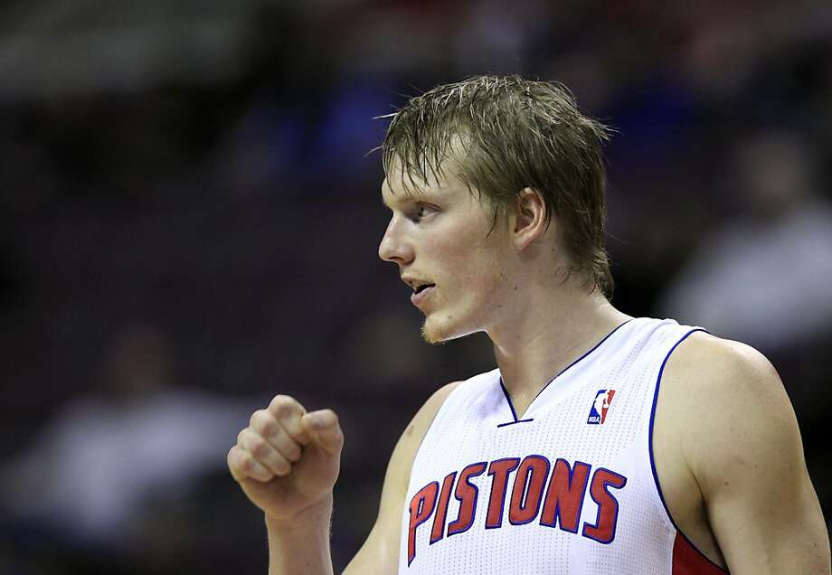 Detroit Pistons forward Kyle Singler is seen during the first quarter of an NBA basketball game against the Golden State Warriors at the Palace of Auburn Hills, Mich., Wednesday, Dec. 5, 2012. (AP Photo/Carlos Osorio) Photo: Carlos Osorio, Associated Press