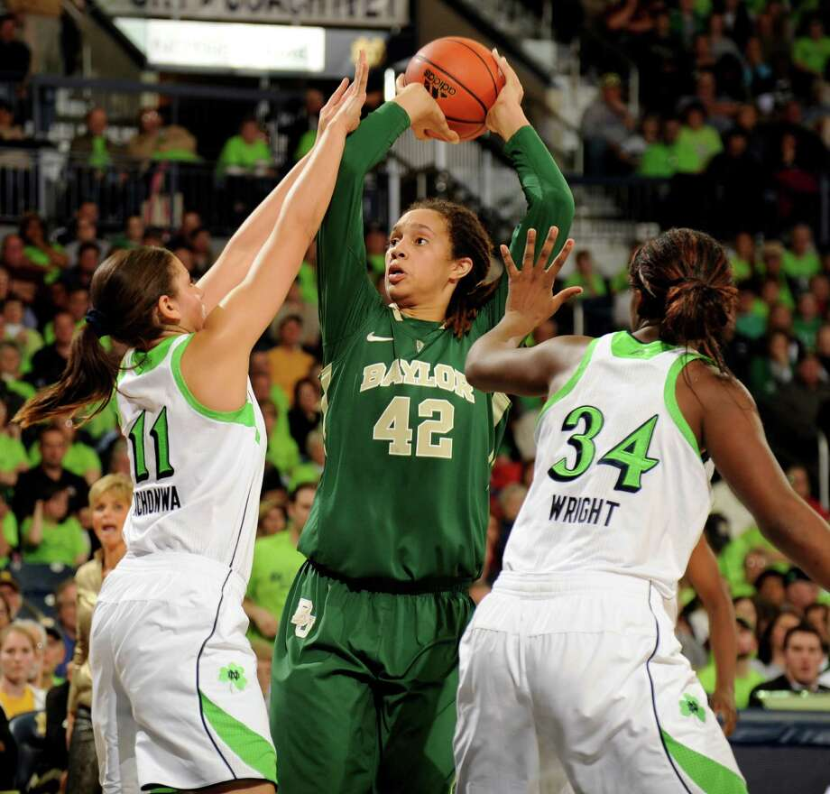 The attention Notre Dame paid to Britney Griner, center, didn't help as she scored 24 points. Photo: Joe Raymond, FRE / FR25092 AP