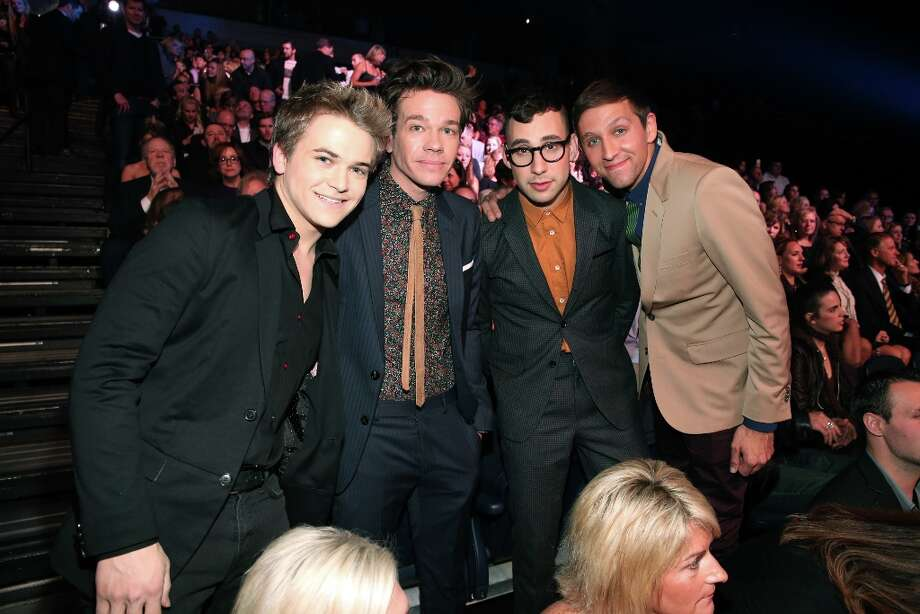 (L-R) Musicians Hunter Hayes and Nate Ruess, Jack Antonoff and Andrew Dost of Fun. attend The GRAMMY Nominations Concert Live!! held atBridgestone Arena on December 5, 2012 in Nashville, Tennessee.  (Photo by Christopher Polk/Getty Images) Photo: Christopher Polk, Getty Images / 2012 Getty Images