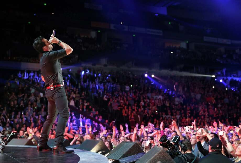 Singer Luke Bryan performs onstage at The GRAMMY Nominations Concert Live!! held at Bridgestone Arena on December 5, 2012 in Nashville, Tennessee.  (Photo by Christopher Polk/Getty Images) Photo: Christopher Polk, Getty Images / 2012 Getty Images