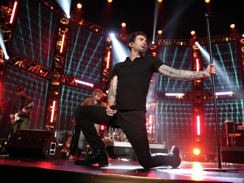 Singer Adam Levine of Maroon 5 performs onstage at The GRAMMY Nominations Concert Live!! held at Bri