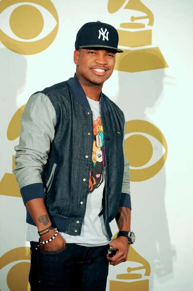 Singer Ne-Yo poses in the press room at The GRAMMY Nominations Concert Live!! held at Bridgestone Ar