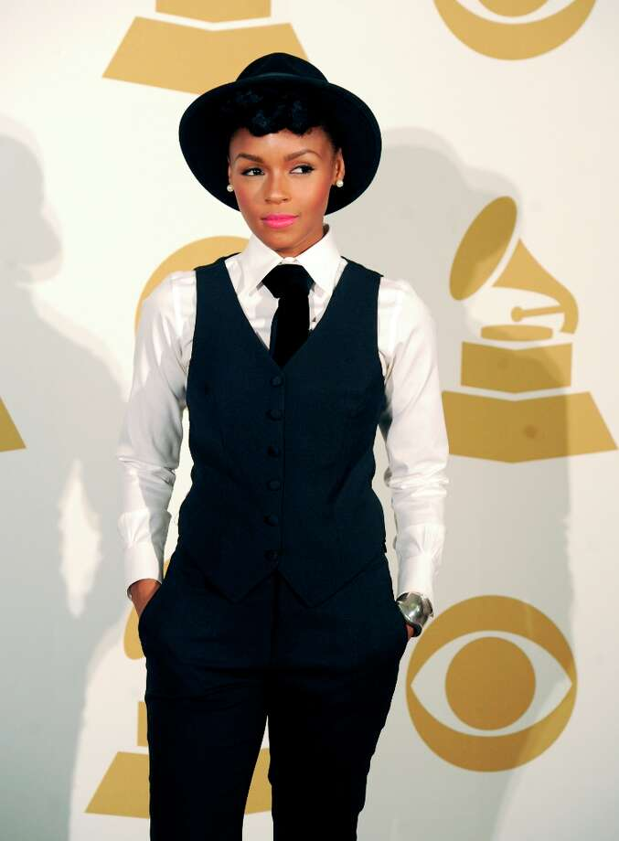 Singer Janelle Monae poses in the press room at The GRAMMY Nominations Concert Live!! held at Bridgestone Arena on December 5, 2012 in Nashville, Tennessee.  (Photo by Erika Goldring/Getty Images) Photo: Erika Goldring, Getty Images / 2012 Getty Images