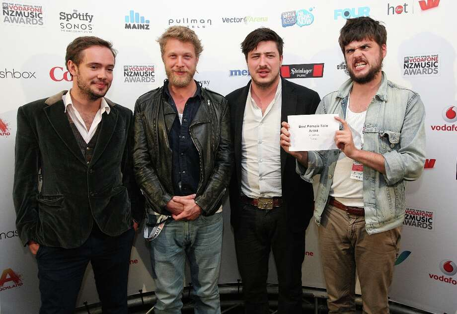 Mumford and Sons is one of the top nominees, with six, including one for Album of the Year for their Babel.  (Photo by Fiona Goodall/Getty Images) Photo: Fiona Goodall, Getty Images / 2012 Getty Images