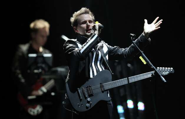 British rock band Muse will perform Jan. 28 at Oracle Arena.  Photo: DANIEL ROLAND, AFP/Getty Images / 2012 AFP