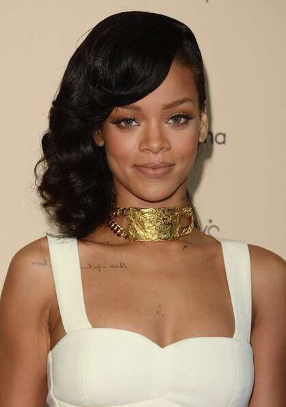 Rihanna was nominated for three Grammys, including Best Pop Solo Performance.  (Photo by Jason Merri