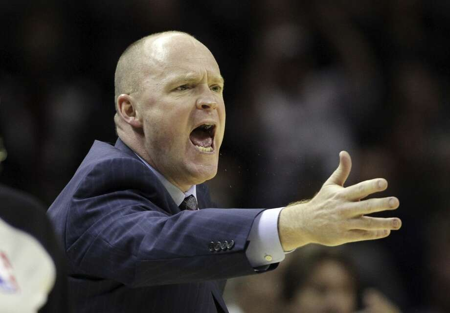 Milwaukee Buck head coach Scott Skiles argues a call during the fourth quarter of an NBA basketball game against the San Antonio Spurs, Wednesday, Dec. 5, 2012, in San Antonio. San Antonio won 110-99. (Eric Gay / Associated Press)