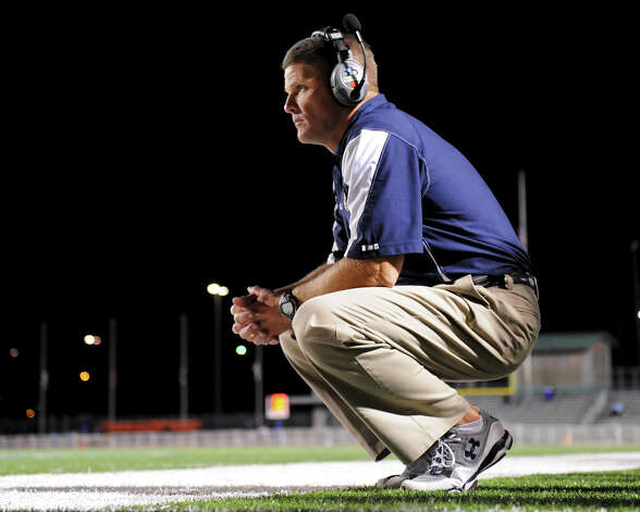 O'Connor head coach David Malesky during a district football game between the Warren Warriors and the o'Connor Panthers at Farris Stadium in San Antonio, Saturday, October 19, 2012. John Albright / Special to the Express-News. Photo: JOHN ALBRIGHT, San Antonio Express-News / San Antonio Express-News