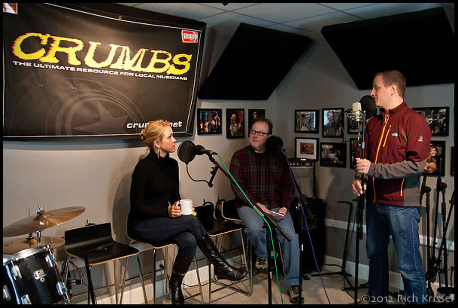 Katie, Andrew, and Mike in the Cafe studio (Rich Krissel)