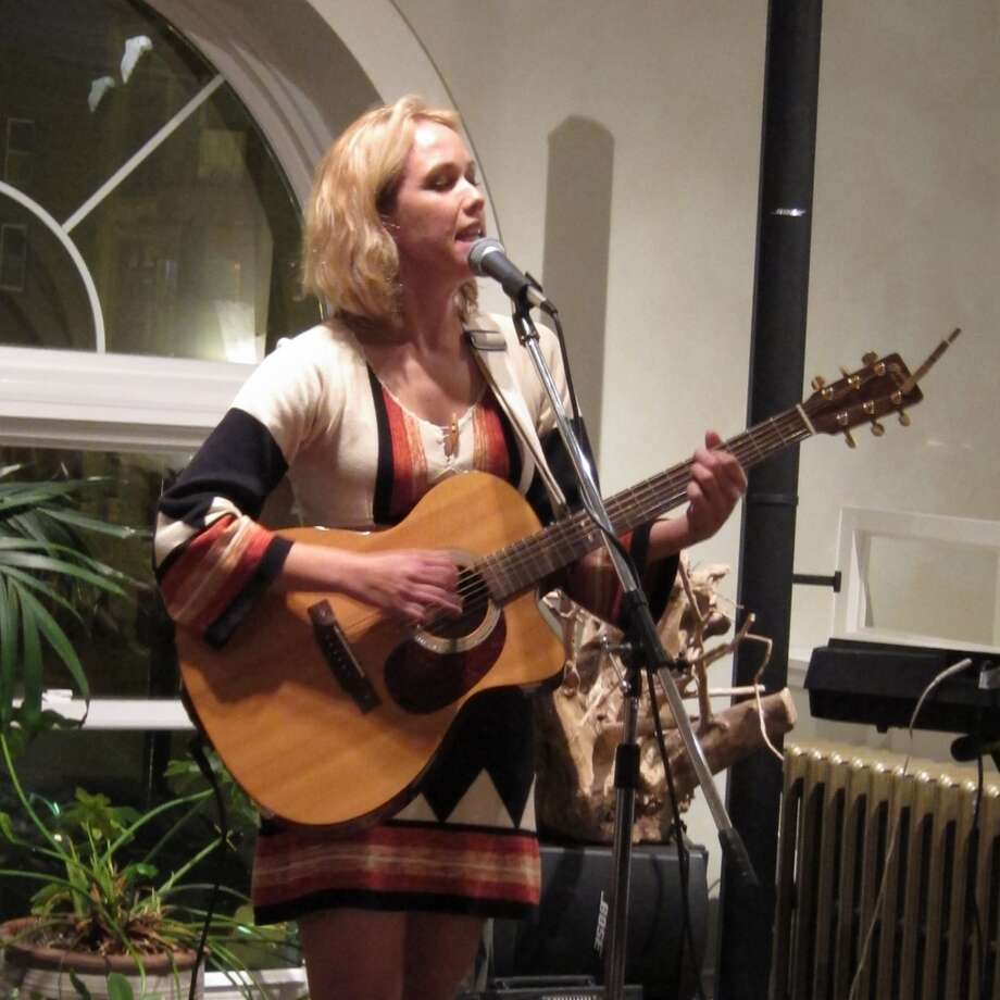 Katie on guitar - The Foundry for Art Design + Culture, Cohoes - Nov. 24th 2012 (Andrew Gregory)