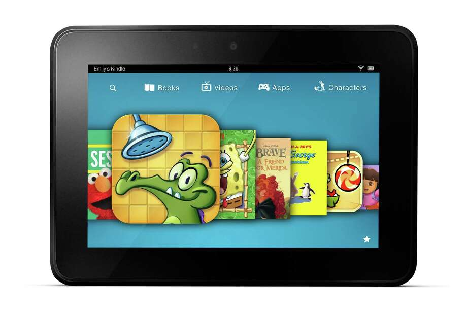 This image provided by Amazon shows a new subscription service for children's games, videos and books aimed at getting more kids to use its Kindle Fire tablet devices.  Amazon.com Inc. plans to announce Wednesday, Dec. 5, 2012 that the Kindle FreeTime Unlimited service will be available in the next few weeks as part of an automatic software update. (AP Photo/Amazon) Photo: Uncredited