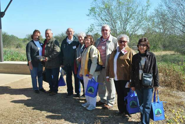 Participants in the Mitchell Lake trip included from the left Esperanza Lira, Gilbert Acuna, Ted Ozuna, Sylvia Ozuna, Ida Mish, Terry Mish, Irene Hernandez and Rose Esquivel. Photo: Courtesy Photo